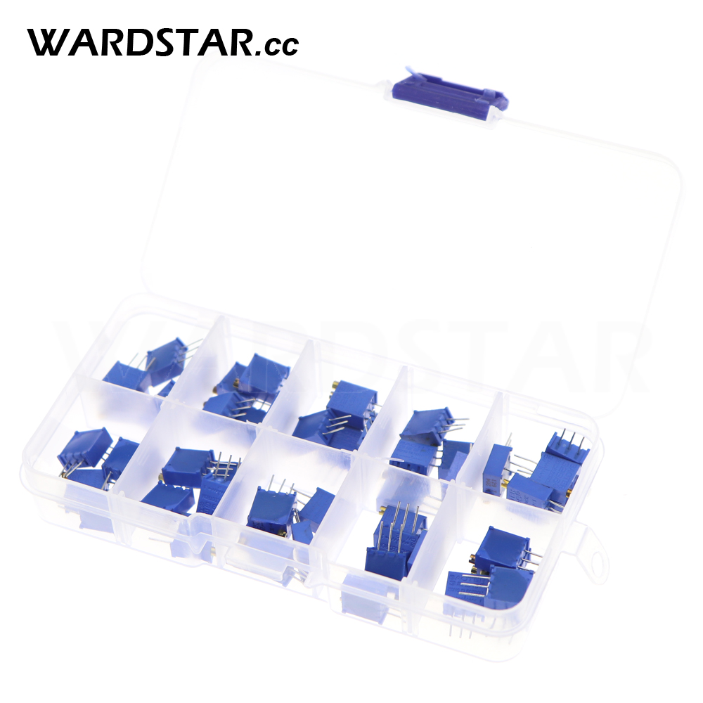 50pcs 3296W 503 High Precision Trimmer Potentiometer Variable Resistor 50K Ohm
