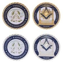 Высокое качество памятная монета масоны Серебряный Золотой вера художественные подарки для коллекции сувенирная монета без валюты масонская монета