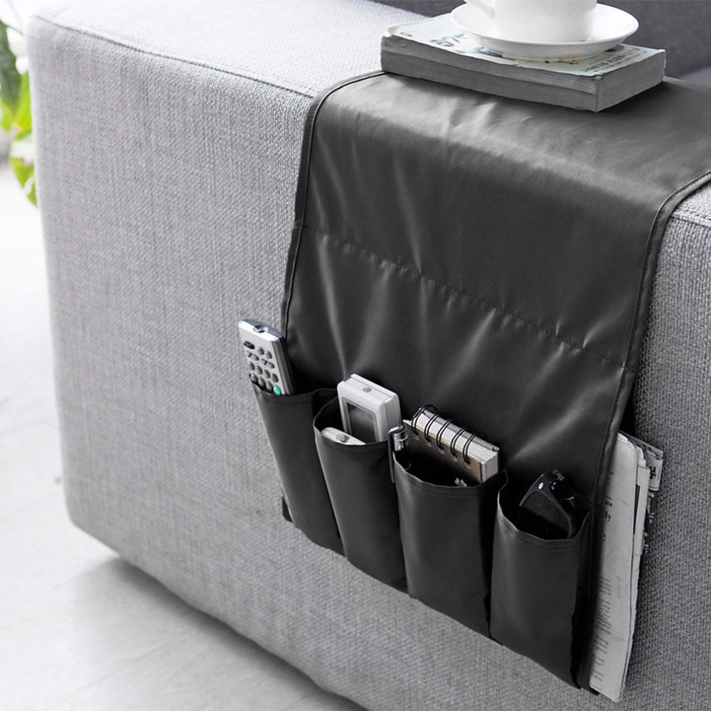 3PCS Sofa Couch Storage Bag Chair Armrest Caddy Pocket Organizer Storage Multipockets for Books