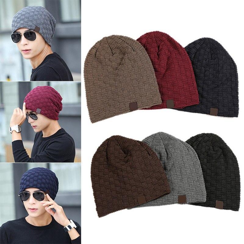 Man Winter Beanies Cap Outdoor Bonnet Warm Skiing Baggy Hat Soft Knitting Hats TT@88