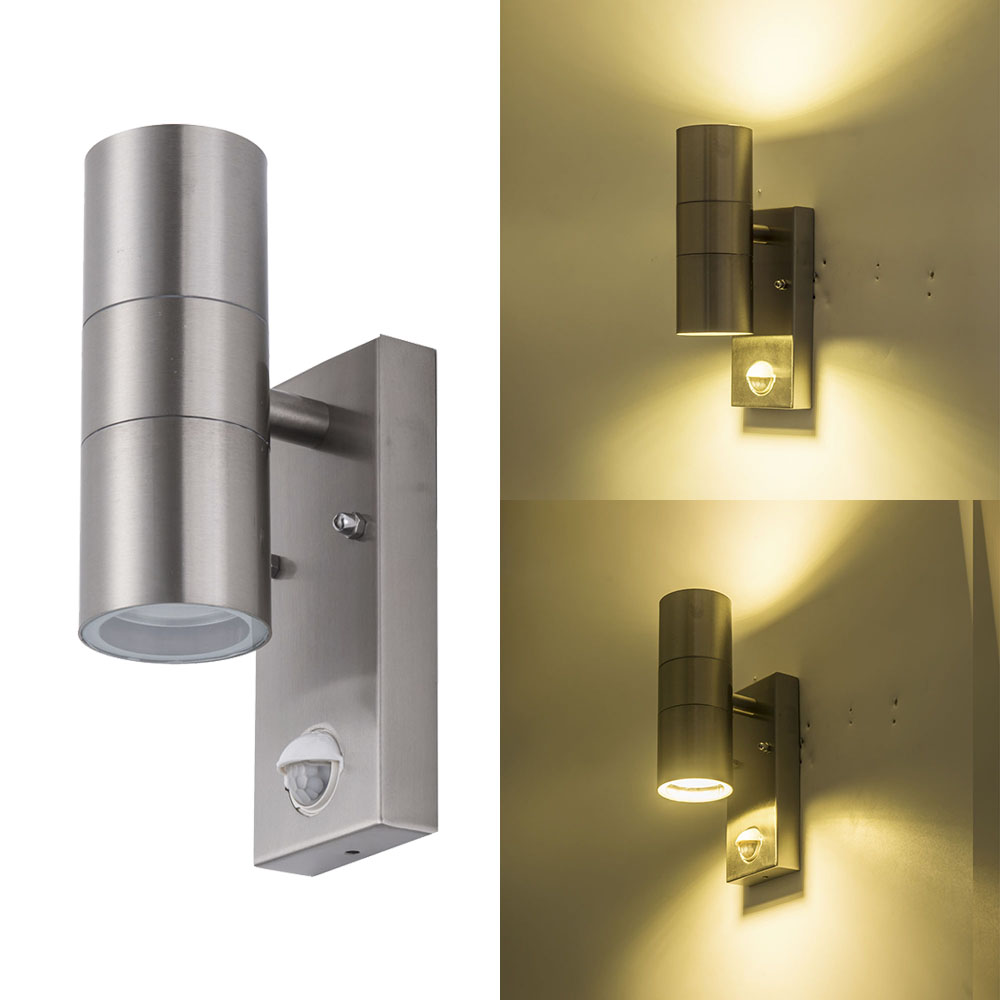 Induction Led Wall lamp waterproof IP65 motion sensor wall mounted light outdoor stainless steel led wall sconce light fixture