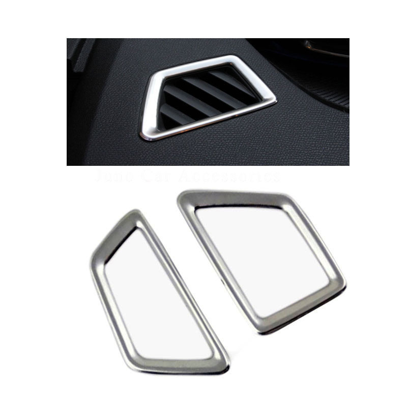 Stainless Steel Interior Upgrade Air Condition outlet decoration circle cover for New <font><b>Peugeot</b></font> <font><b>4008</b></font> <font><b>2016</b></font> 2017 image