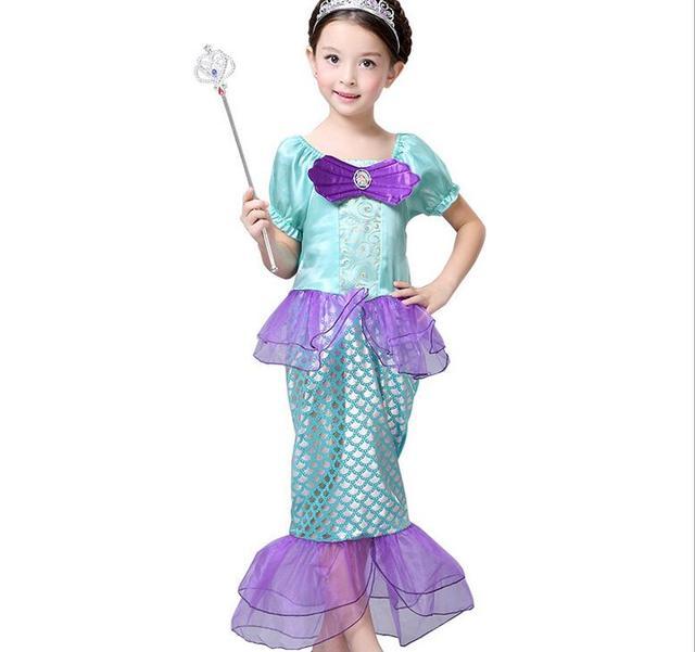 free shipping Kids Girls Dresses The Little Mermaid Costume Princess Ariel Party Fairy Dress Cosplay  sc 1 st  AliExpress.com & free shipping Kids Girls Dresses The Little Mermaid Costume Princess ...