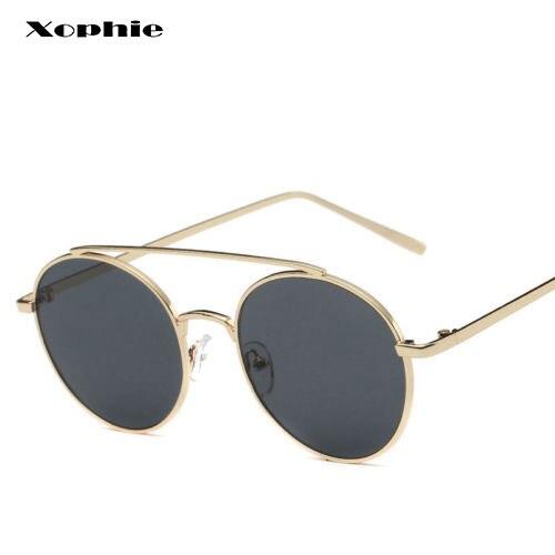 Das mulheres Do Vintage Rodada Óculos Escuros de Grife De Metal Espelhado  Óculos Vidros do Olho 4d41edb633