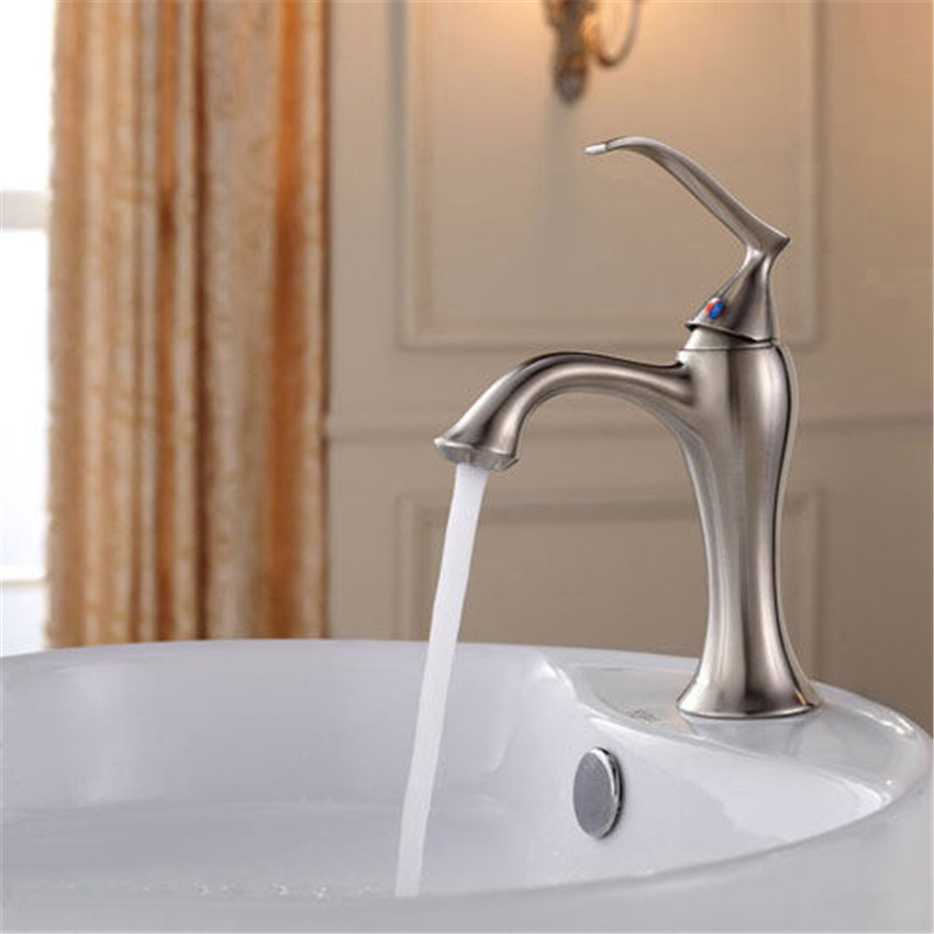 Bathroom faucet Luxury Taps Professional nickle brushed Bathroom Basin kitchen Sink Swivel Mixer Vessel Tap Faucet