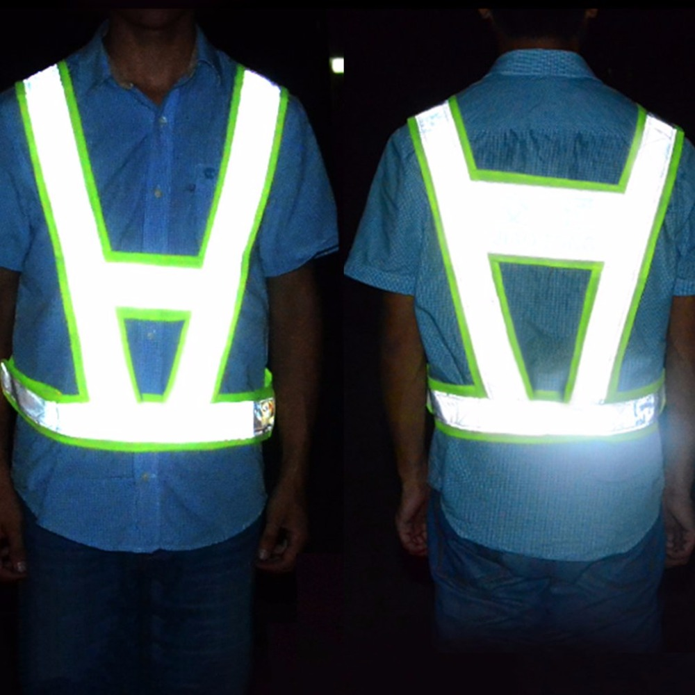 V-Shaped Reflective Safety Vest Traffic Safety Clothing High Visibility Light-Reflecting Vests Anti Freeze Overalls