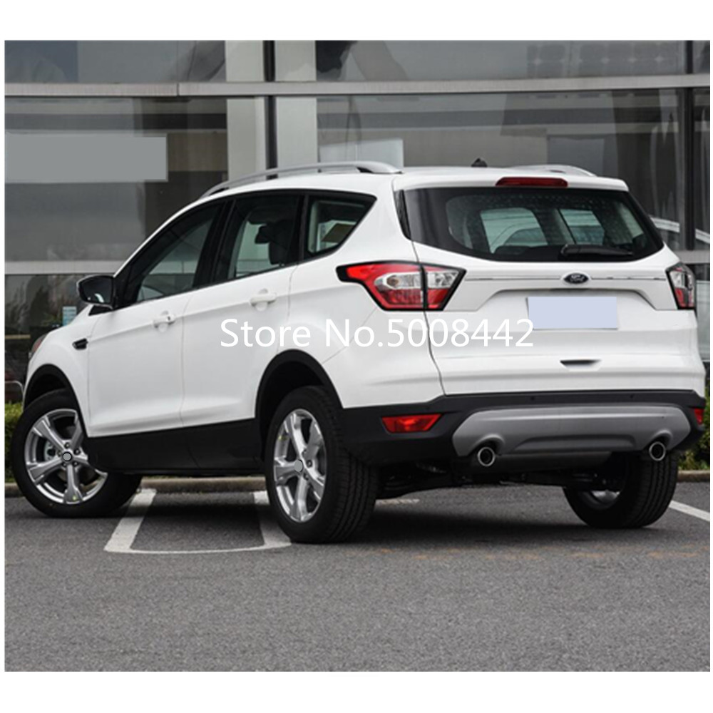Image 3 - For Ford Kuga 2017 2018 2019 car styling cover rear tail outside bumper trunk threthold trim cover plate pedal 1pcs-in Car Stickers from Automobiles & Motorcycles