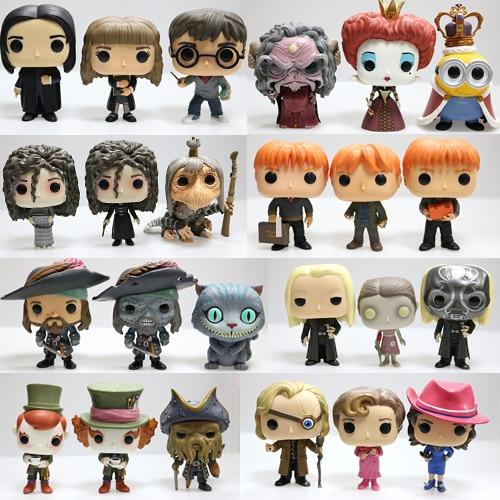 Original Funko POP Snape, Rubeus, Luna, Dobby, Draco Malfoy, Cedric, Sirius, Neville, Hermione, Alice, Hatter Loose Figure Toys
