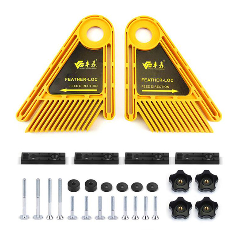 New Multi-purpose Feather Loc Board Set For Woodworking Engraving Machine Table Saws Double Featherboards Miter Gauge Slot Tool