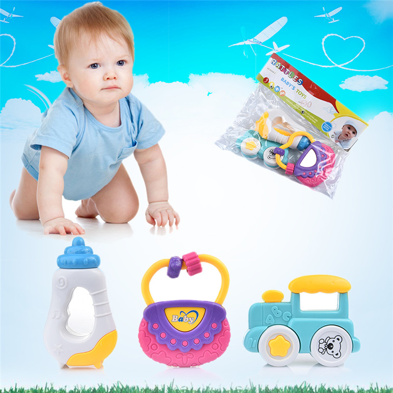 New Baby Mobile Classic Baby Rattle Bell and Gutta-percha Play Set Toys Gifts Baby Educational Toy