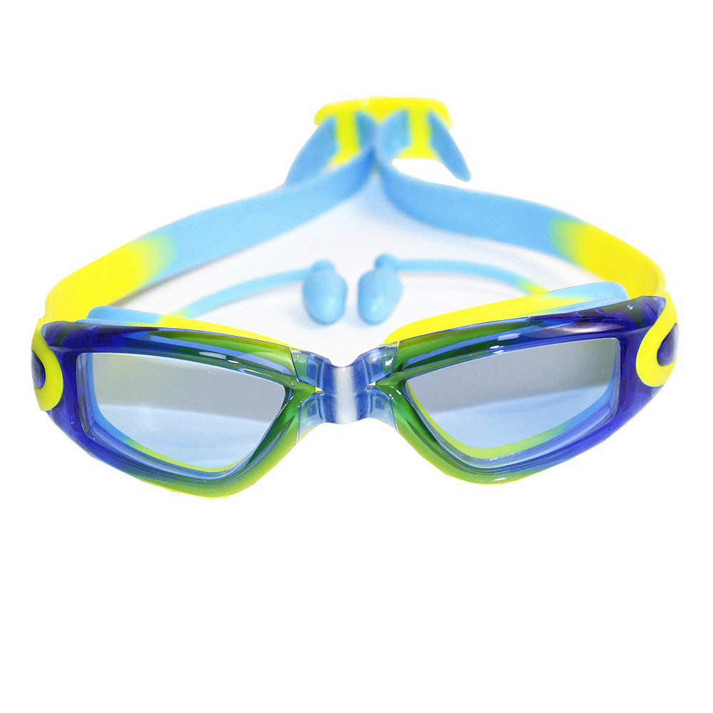 Professional Silicone Swimming Goggles Anti-fog UV Swimming Glasses With Earplug for children Transparent Sports Eyewear