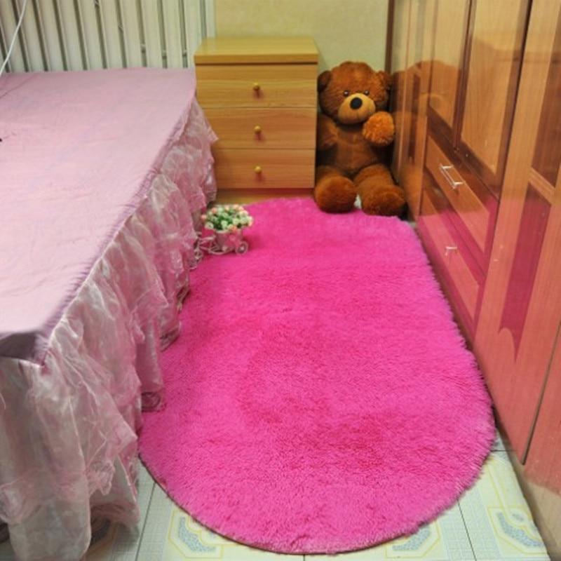 160*200 cm tapis Alfombras ovale doux tapis de zone en fausse fourrure tapis de sol antidérapant pour salon salon chambre tapis moelleux