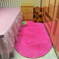 160*200cm Soft Oval Alfombras Carpet Faux Fur Area Rug Slip Resistant Floor Mats For Parlor Living Room Bedroom fluffy Mats