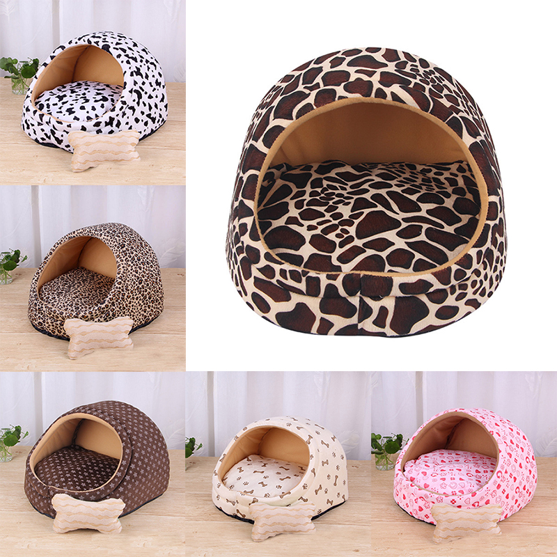 Winter Warm Puppy Dog Pet Bed House Removable Dog Cat Beds For Small Dogs Cats Kedi Katten Mat Kennes Mascotas Products Pet Home