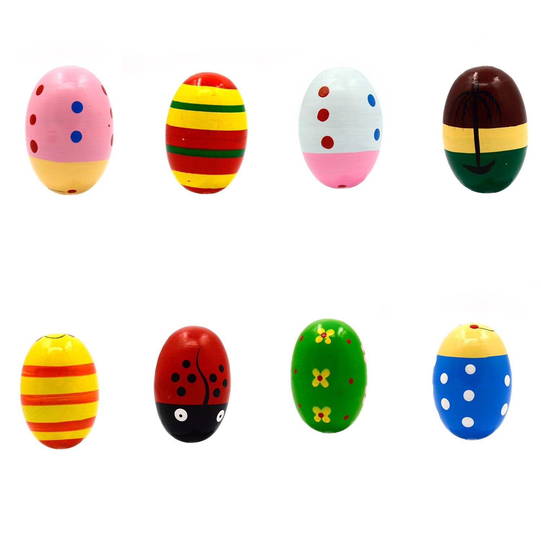 Children9s Educational Wooden Toys Sand Eggs Quantity 2 Random Color