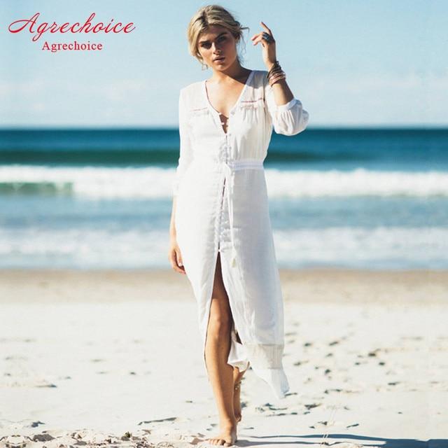 15323f7f0d White Beach Cover Up Bikini Cover Up Beach Dress Long Tunic 2018 Swimwear  Bathing Suits Cover