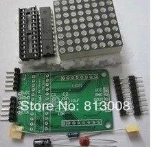 MAX7219 display driver Dot matrix module DIY kit SCM control module for Arduino Free Ship Emax 10PCS/LOT