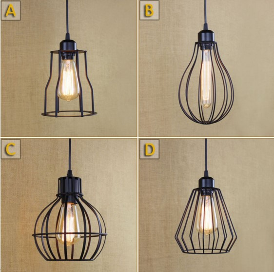 American Creative Retro Loft Style Lamp Vintage Industrial Lighting Pendant Lights Fixtures Bombilla Edison Lampen Lamparas