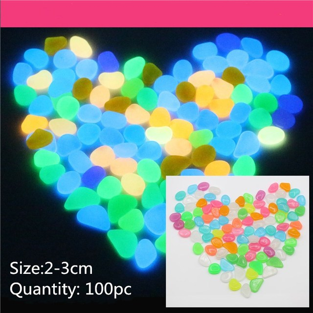 100pc plastic night gypsum christmas decoration new year decoration villa gardening garden luminous stone decoration 11colors - Garden Gypsum