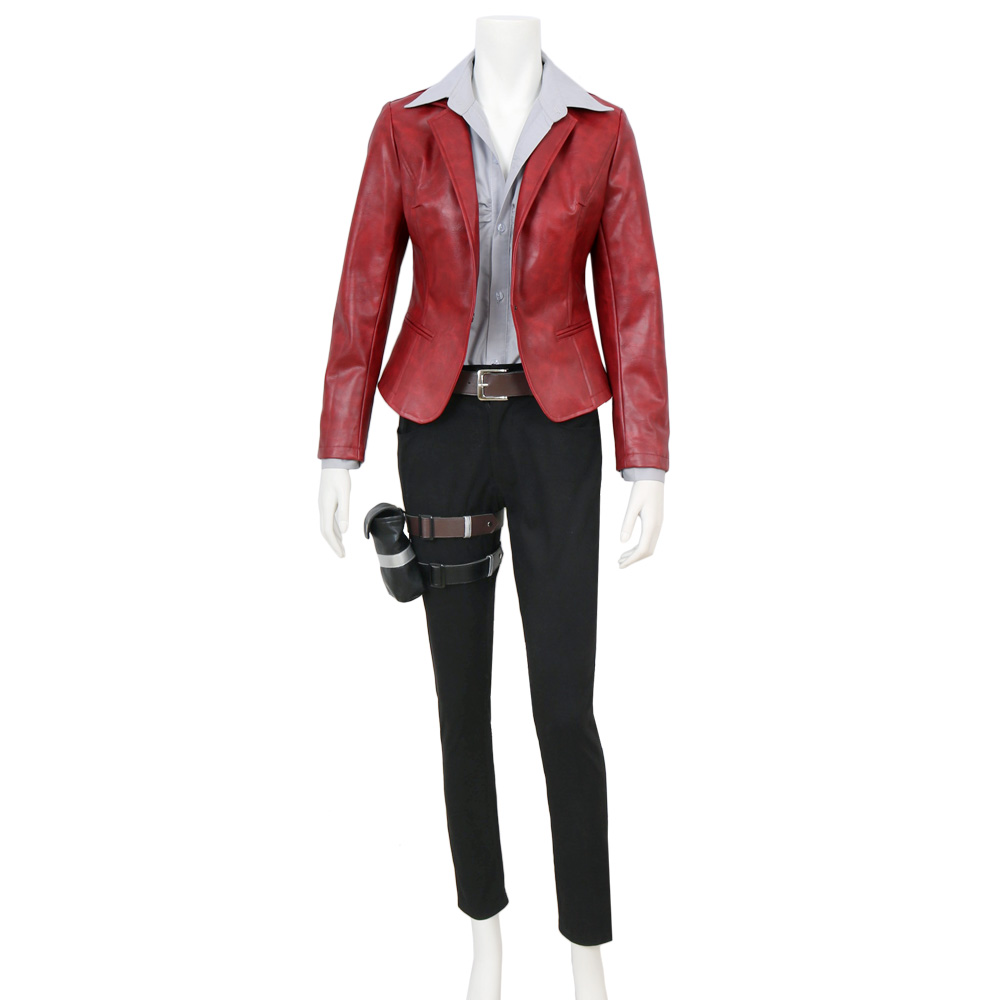 CGCOS Resident Evil: The Final Chapter Canvas Claire Redfield PU Uniform Movie Game Cosplay Costume Halloween Christmas Full set