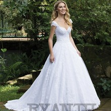 Ryanth Vestido de noiva Luxury Beads Wedding Dress 2019