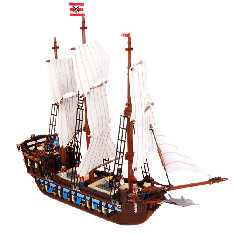 1717pcs Diy Movies Series Pirate Ship Warships Model Building Blocks Compatible With Legoingly Bricks Toys Gift For Children 2017 new lepine pirate ship imperial warships model building kits block briks toys gift 1717pcs compatible lele 10210