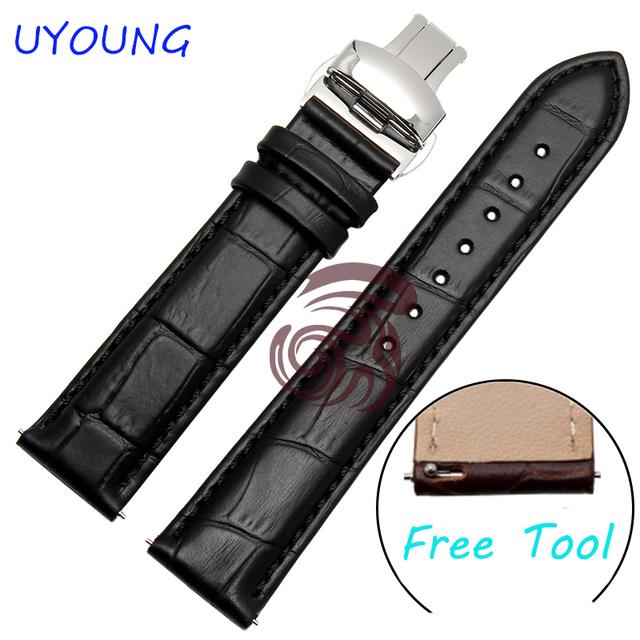 Faixas de relógio de couro de alta qualidade 16mm 20mm 22mm assista men tiras preto/brown watch band para moto 360 (2nd gen) smart watch