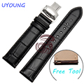Quality Leather Watch Bands 16mm 20mm 22mm Watch Men Straps Black/Brown Watch Band For moto 360(2nd Gen) Smart Watch