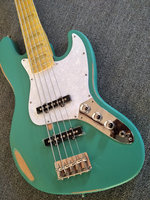 Free Shipping Duck Eggs Green Do Old Electric Bass Guitar Mahogany Body Maple Fingerboard Custom Can