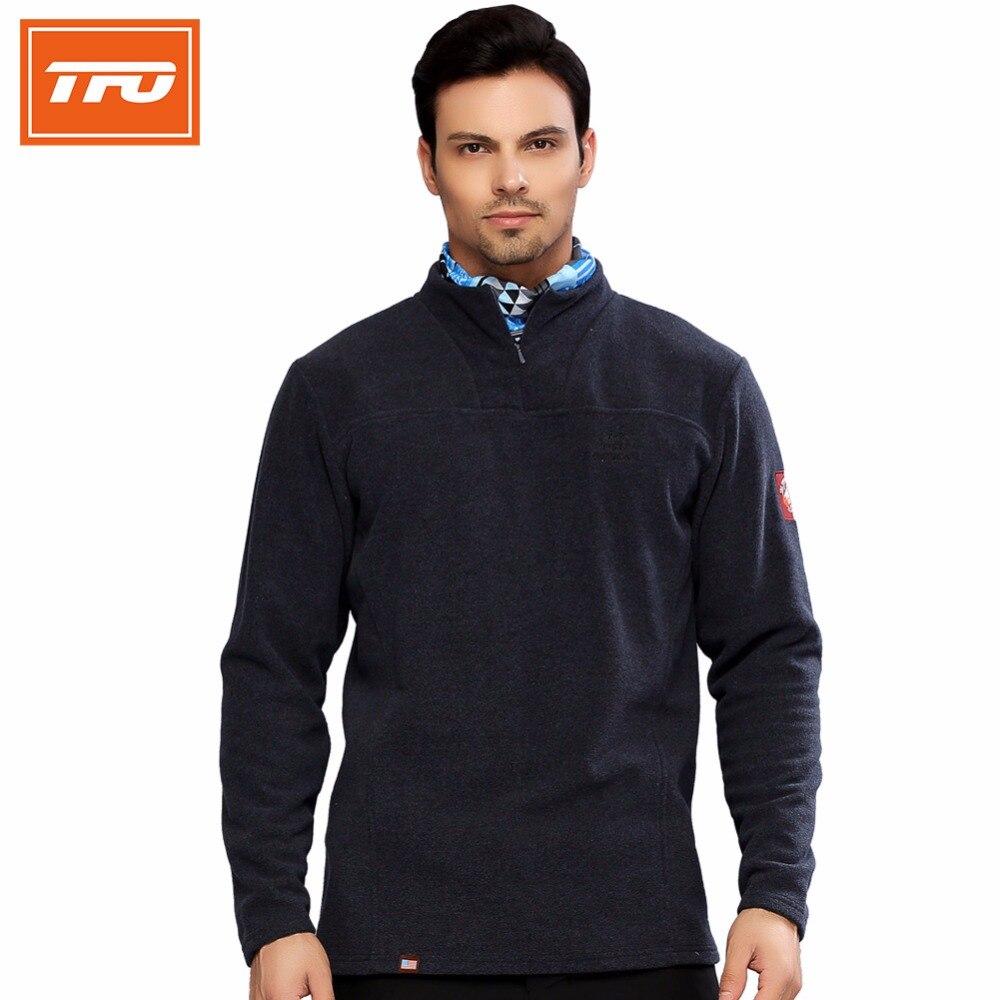 ФОТО TFO Men Tech Fleece Jackets Man Polartec Hiking Heated Clothing Jacket Winter Thermal Sports Outdoor Sport Coat 672634