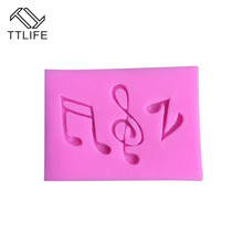 TTLIFE 3 Holes Music Notes Shape Silicone Mold Pastry Fondant Cake Decorating Tool Soap Sugarcraft Dessert Kitchen Baking Moulds italian onion diy silicone mold fondant cake sugarcraft baking decorating cake dessert fondant cupcake tool kitchen accessories