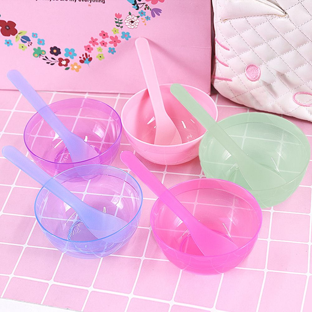Diy Bowl Set Mud Tool Mixing Bowl With Spoon Crystal Mud Kids Toy Colorful Slime Container Box DIY Plasticine Slime Set For Clay