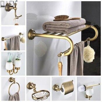 Bathroom Accessories Antique Bronze Towel Shelf Toilet Paper Holder Soap Holder Towel Rack Tumble Holder Antique Bronze ELF4001