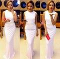 Tamaño modificado para requisitos particulares Elegante Elementos de Encaje Blanco Sirena Vestidos de Noche Vestidos de Baile Para Las Mujeres Bodas y Eventos