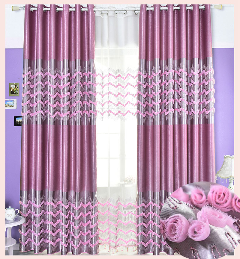Curtain blackout embroidered floral height 280cm curtains - Rideaux originaux pour salon ...