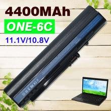 UM08A31 PRETO 4400 mAh bateria Para Acer Aspire One A110 A150 D150 D210 D250 ZG5 UM08A51 UM08A32 UM08A52 UM08A71 UM08A72 UM08A73