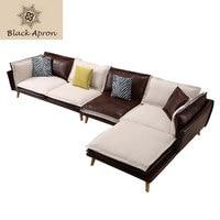 TOIN Sofa For Living Room Divano Mobilya Couch In Modern Genuine Pelle Leather Koltuk Angolare Set