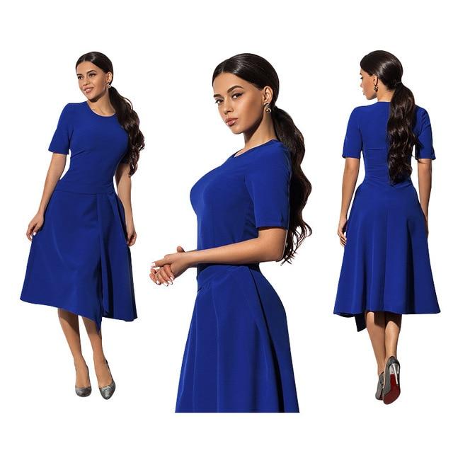 Hot Sale Summer Fashion Large Size Dress Women Irregular Skirt Dresses Fat  MM 6XL O-neck Loose Plus Size Women Clothing Vestidos 44c481f6d757