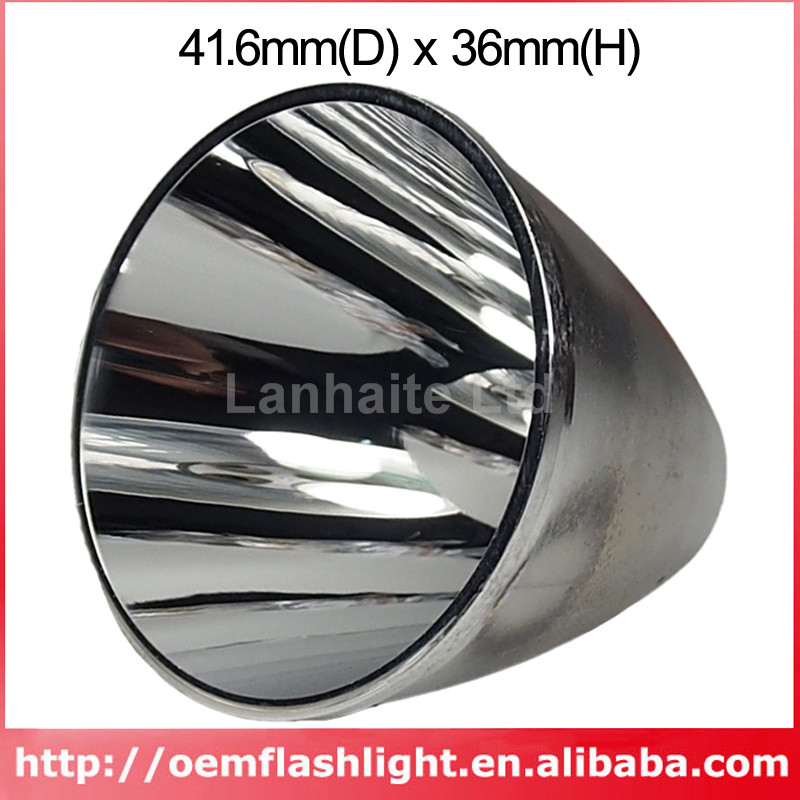41.6mm(D) X 36mm(H) SMO Aluminum Reflector For Tiablo A9