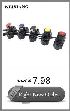 Botão Interruptor Da Buzina Com Chicote de Fios Vermelho Amarelo Preto