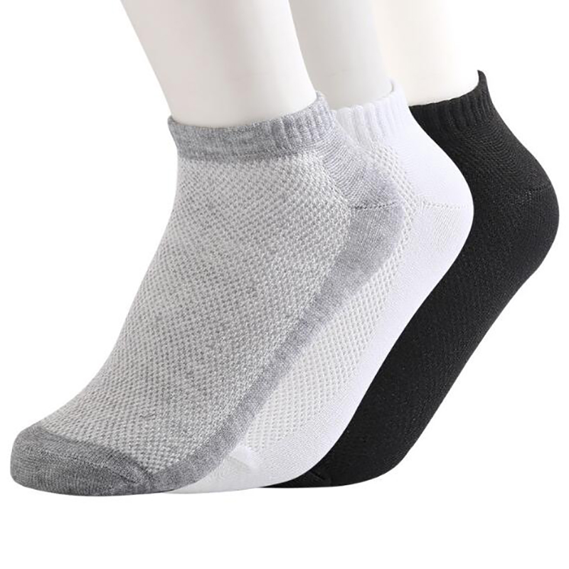 20Pcs=10Pair Solid Mesh Men's   Socks   Invisible Ankle   Socks   Men Summer Breathable Thin Boat   Socks   Size EUR 38-43