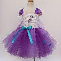 Pônei Vestido Roupa Das Crianças 12 Anos As Meninas Da Criança Vestido de Verão Adolescentes Pequena Sereia Menina do Verão Roxo Curto vestido de Baile Vestido
