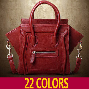 d818d60ce6 6 Colors Luxury Brand Classic Nano Solid Color Smiley Cross Body Tote Women  Wine Red Bag