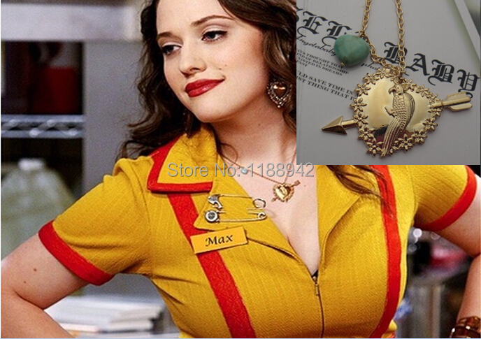 2 Broke Girls Max Parrot Pendant Necklace In Pendant Necklaces From