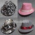 Осень мальчиков Fedora стиль унисекс дети джаз фетровой шапки для детей Girls бесплатная доставка CBXB-001R