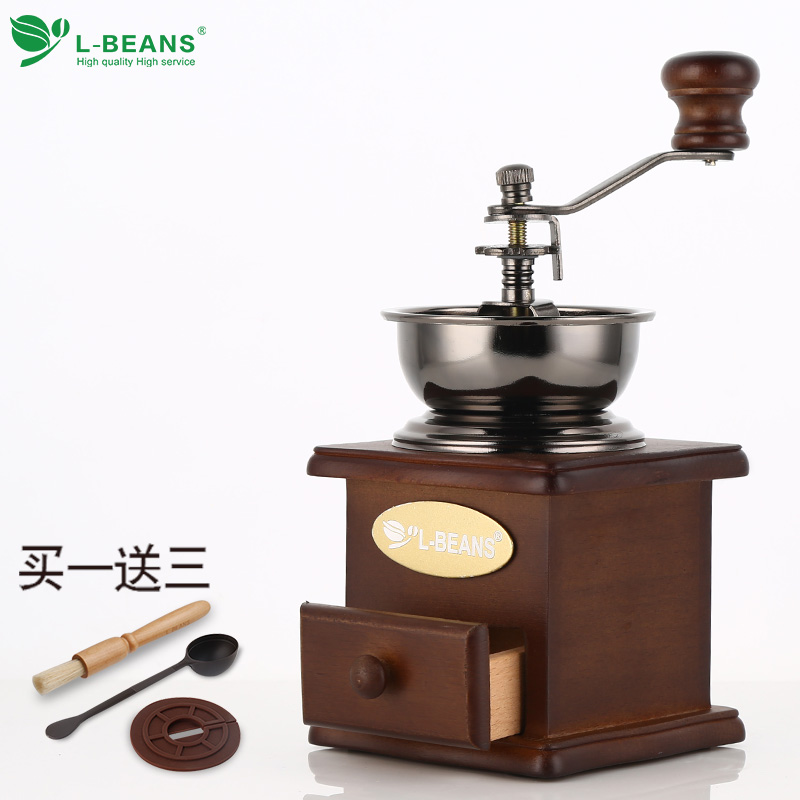 L-BEANS Household Coffee Beans Grinder Manual Coffee Machine Adjustable Thickness Hand Grinder grinders machine manual coffee machine household grinder mini grinder