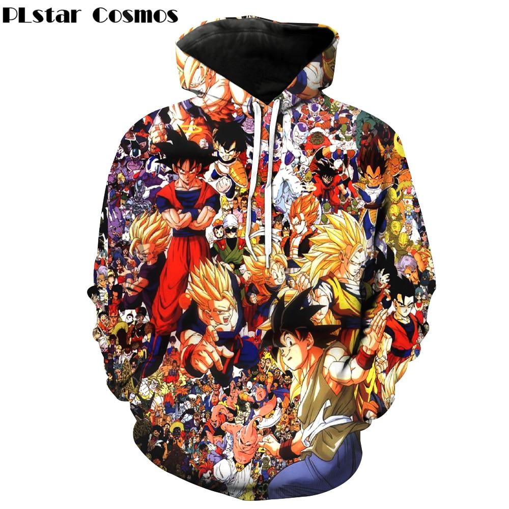 PLstar Cosmos Classic Team Of Dragon Ball 3D Hoodies Goku/Vegeta/Piccolo Print Hooded Sweatshirts Men Women Hoodie Pullovers
