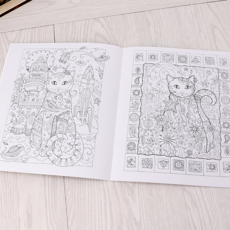 24 Pages Coloring Books For Kids Creative Cat Coloring Book Kill