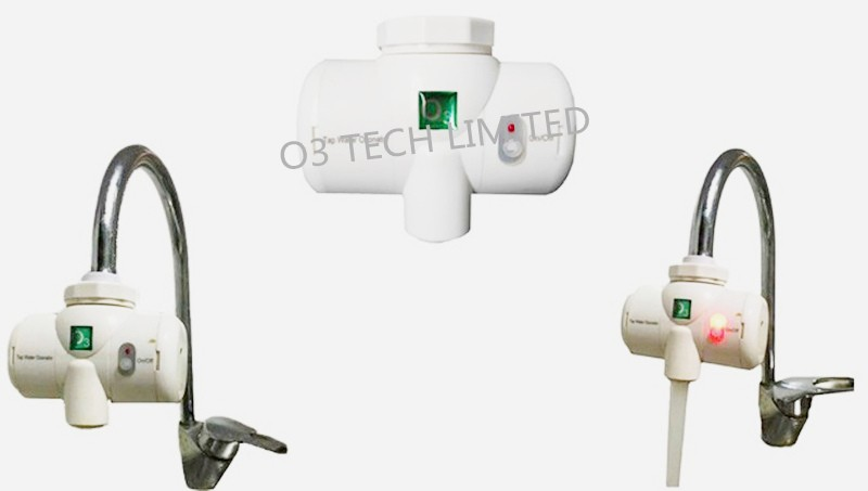 Tap Ozonated water Tap water ozonator Faucet ozone generator Ozone water concentration 0.2-0.25PPM