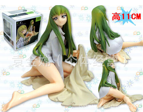 11cm Code Geass CC Sexy Character Action Figures PVC brinquedos Collection Figures toys for christmas gift hot anime date a live tokisaki kurumi 1 8 scale action figures pvc brinquedos collection figures toys kids man christmas gift